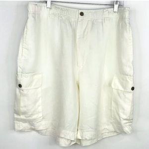 Caribbean cargo Shorts 100% Linen Cream 38